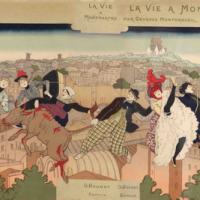 Pierre Vidal, couverture Pour la vie à Montmartre,