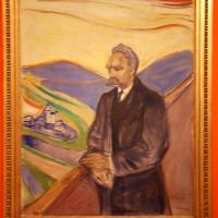 Thielska Galleriet Utstillingen hovedverk Friedrich Nietsche er nå i Oslo på Munch Museet under Munch 150, plassert på en fremtredende plass. Dette ble malt i 1905/06 etter Nietsches død i år 1900. Olie på Kanvas, 201x160 cm, Foto: Henning Høholt