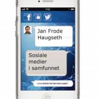 Sosiale medier i samfunnet, cover. - Universitetsforlaget