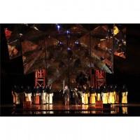 Scenebilde fra den nye Aida produksjonen i Arena di Verona.