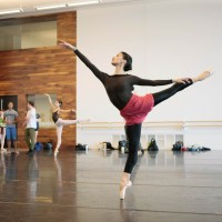 One dancer from Houston ballet rehearsing on Lang Lang Dance prosject, Choreography Stanley Welsh. Photo: Amitava Sarkar