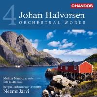 Sentrale verk av Johan Halvorsen er blant annet spilt inn på CD fra Chandos, med Neeme Järvi som dirigent.