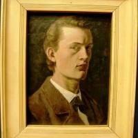 Edvard Munch, selvportrett, foto Henning Høholt