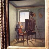 Caspar David Friedrich malt i sitt atellier av Georg Friedrich Kersting ca. 1812. Foto Henning Høholt