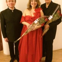 Robertas Servenikas, Ingebjørg Kosmo, Trond Halstein Moe, in Vilnius, 28.2.2015. Foto Henning Høholt
