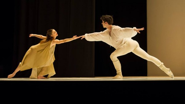 Anja Behrend and Stephan Bourgond.as Romeo and Juliette in Monte Carlo