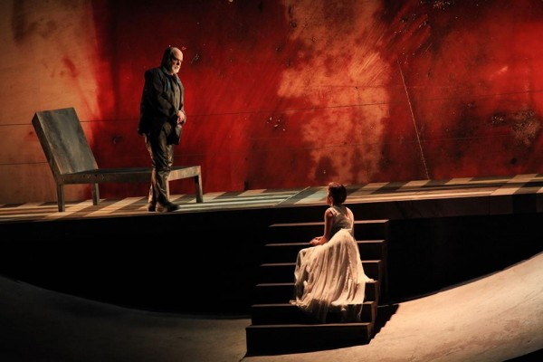 Peleas and Melisande in Firenze, Frontali and Monica Bacelli- (right). Foto MMF Opera di Firenze
