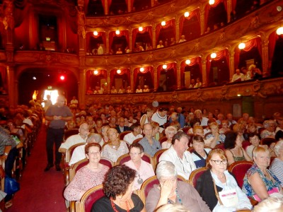 The beautiful hall attracts an audience of one thousand. Photo : Torkil Baden