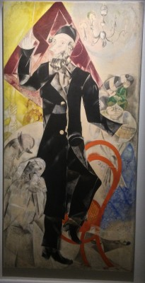 Marc Chagall, panel sfrom the Yiddish Theatre, Moscow 1920. As shown above. Foto Henning Høholt
