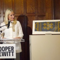 Thursday October 8th  Security Council Chamber as a gift to Cooper Hewitt, Smithsonian Design Museum's permanent collection in New   York.   , HRH Crown Princess Mette-Marit of Norway gave a piece of the original tapestry of the UN Foto: