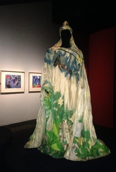 Marc Chagall costume for Zarastro, from exposition at Philharmonie de Paris, foto Henning Høholt