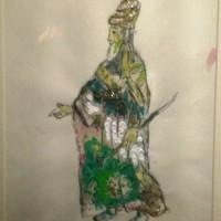 Costume sketches for: Tamino, Zarastro, Queen of the Night: