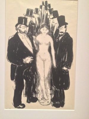 Edvard Munch, L´Allée 1895, Litographie.