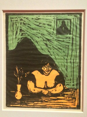 Edvard Munch. The big Prostitute 1899, Gravure, foto Henning Høholt