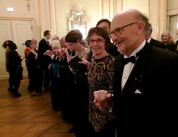 Polonaise, Kunstnerforeningens Juleball 2015, I front, Kjetil Bang Hansen og Inger Johanne Rütter, foto Tomas Bagackas Høholt