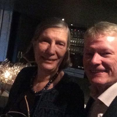 Forfatterinden Synnøve Nord og Otto Jan Teige - Interiørgalleriet. Foto Henning Høholt