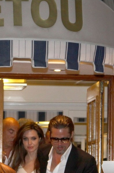 Angelina Jolie and Brad Pitt like the fish at Tetou. Photo: Justjared.com