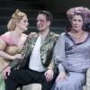 "Oper Leipzig - Richard Wagner ""Rheingold"". Premiere-4.5.13. Sandra Trattnigg - Freia. Tuomas Pursio - Wotan, Karin Lovelius - Fricke. Foto: Tom Schulze."