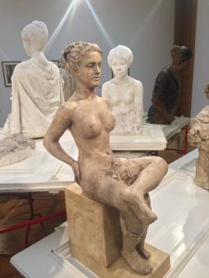 Max Klinger: Plaster of a female model.