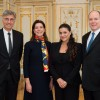 "n the Monaco palace: Cecilia Bartoli will perform court music and launches ""Les Musiciens du Prince""  together with princesse Stehanie, prince Albert and opera director Jean-Louis Grinda (left). Photo: G. Luci."