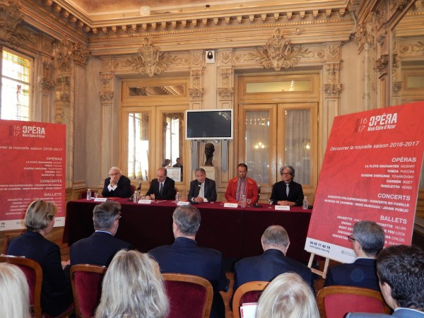Press conference in the Opéra Nice Côte d'Azur.