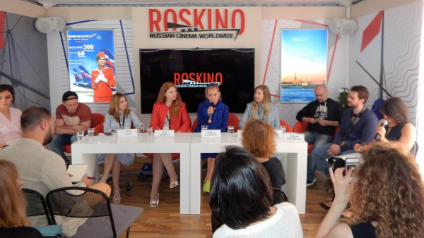 """Roskino presents Russian films in Cannes    . Screenwriter and director Tamilla Slichencko talks about her """"Sin""""      <div title="""