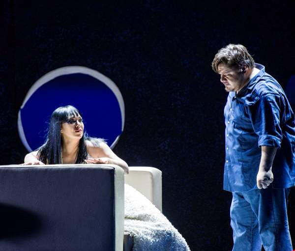 Diego Torres (Calaf), and Elizabeth Blancke Biggs in Turandot in Oslo.