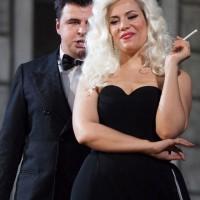 Lippi and Dotto as Alfredo and Violetta in La Traviata in Firenze.