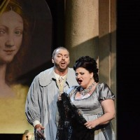 Tosca: Dimitra Thedossiou and Alessandro Golden as Cavaradossi. Photo Festival Puccini. Lucca.