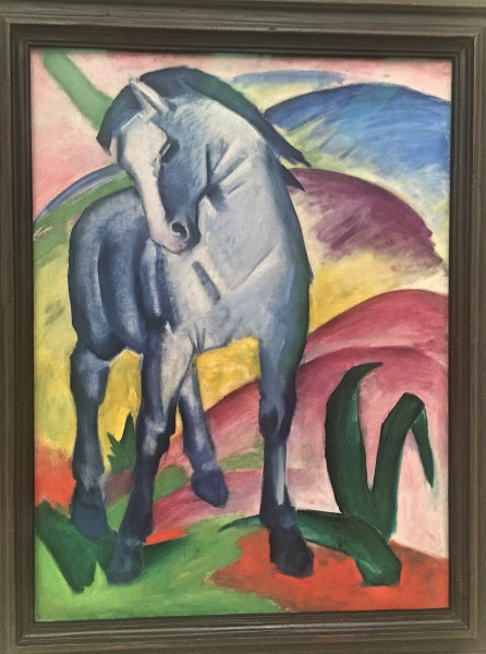 One of Franz Marc´s famouse Blue Horse are, of course, exposed in the new museum. Foto Tomas Bagackas