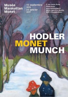 Hodler Monet Munch -in Paris.  poster.