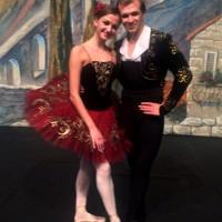 Kristina Andreeva and Mikhail Timaev in Don Quixote. Foto Tomas Bagackas
