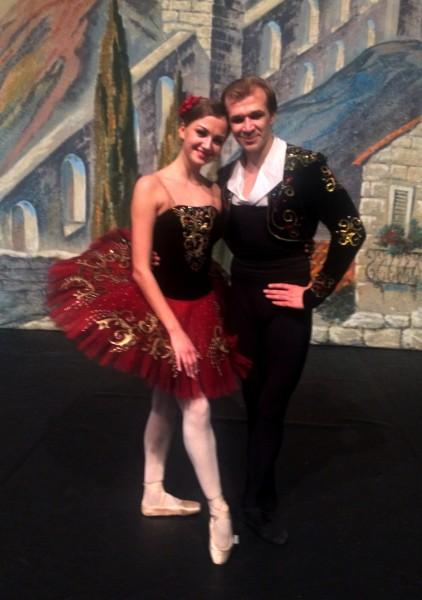 Kristina Andreeva and Mikhail Timaev in Don Quixote      <div title=