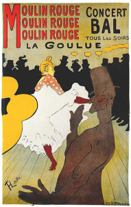 Toulouse-Lautrec Moulin Rouge la Goulue poster - 1891.