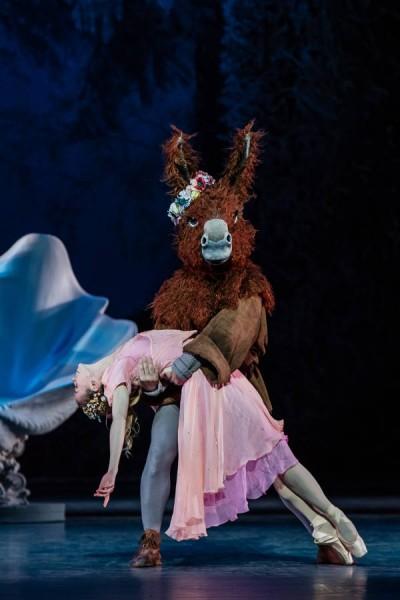 Bottom-Francesco Vantaggio together with Eleonora Abbagnato as Titania.