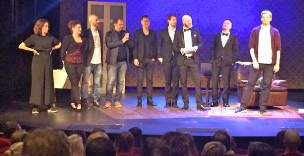 The production team gets a well deserved applause at the Oslo premiere. Photo: Torkil Baden