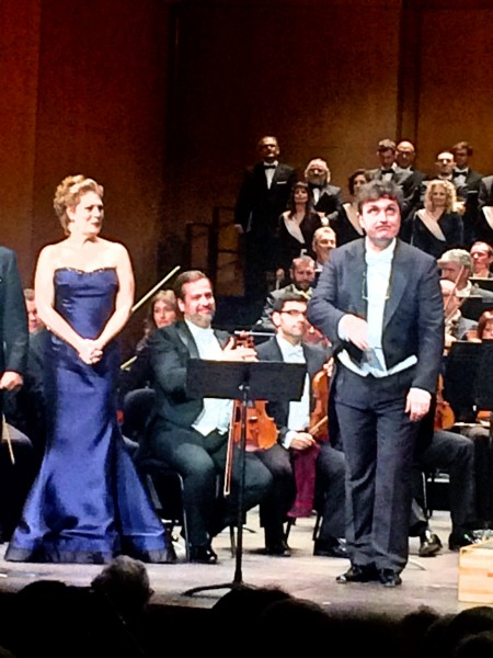 Ludovic Tézier, outstanding in the titelrole, and his daughter Amelia - splendid performed by Sondra Radvanovsky. All Photos Henning Høholt.