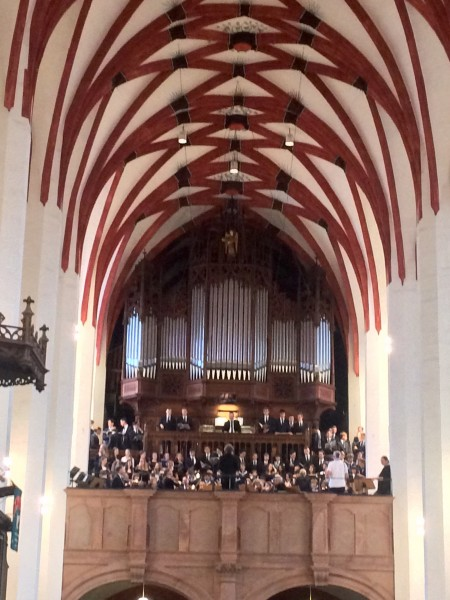 Thomanerchor, Leipzig, ThomasSchulChor just before opening of the concert. Foto: Henning Høholt