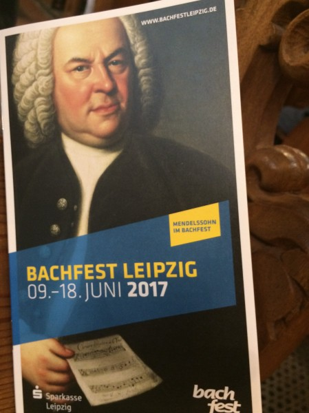 BACHFEST - LEIPZIG 2017, programfrontpage for the opening concert 9.6.2017.