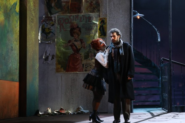 Gabrielle Philiponet and Régis Menus as Musette and Marcel. in 3. act.