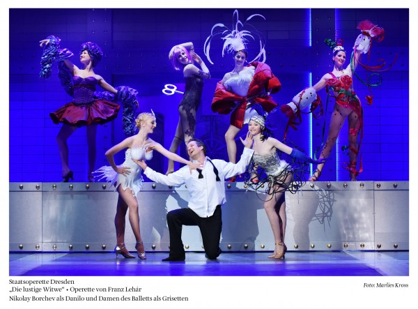 From the merry widow in Dresden Staatsoperette, in the center as Count Danilo, foto: