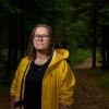 """Olaug Nilssen fikk Brageprisen for denne romanen: """"Tung tids tale"""": Foto: Bent R. Synnevåg"""